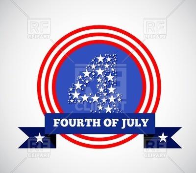 400x354 Fourth Of July Round Emblem