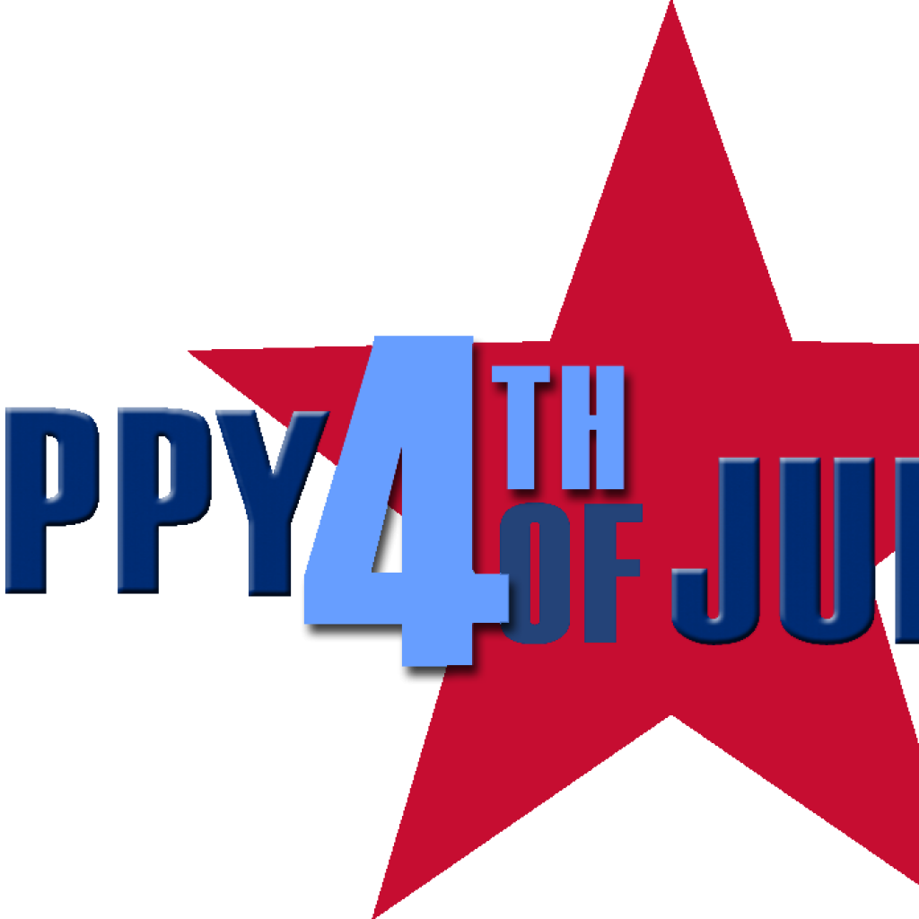 1024x1024 Free Clipart 4th Of July Vector