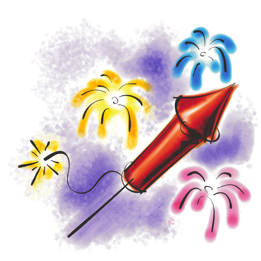 1050x1050 Of July Fireworks Clipart Independence Day Fireworks Clipart