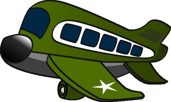 600x357 Green Jumbo Jet Clip Art