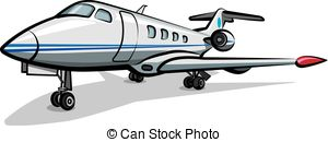 300x130 Jet Airplane On A White Background Vector Clip Art