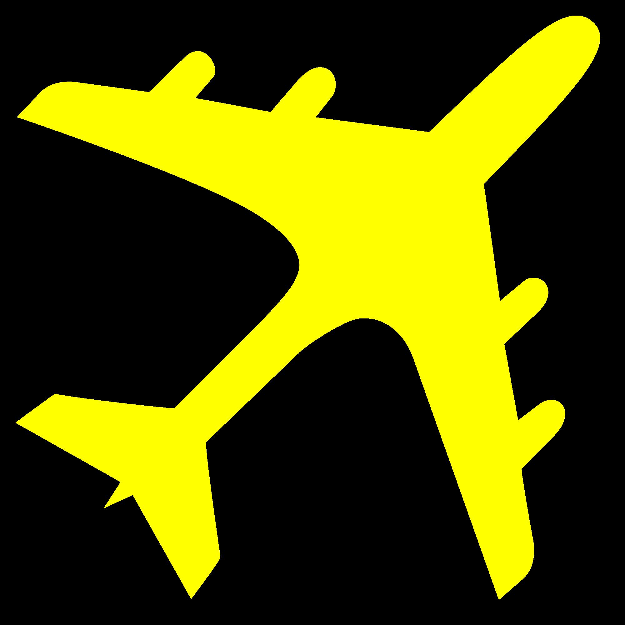 2000x2000 Jet Clipart Yellow