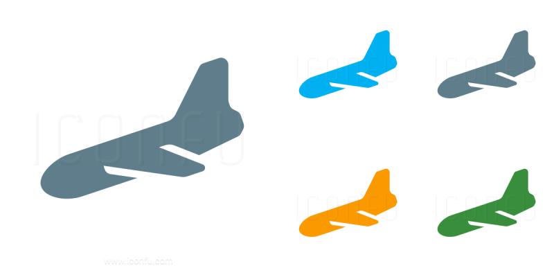 800x400 Plane Landing Clipart
