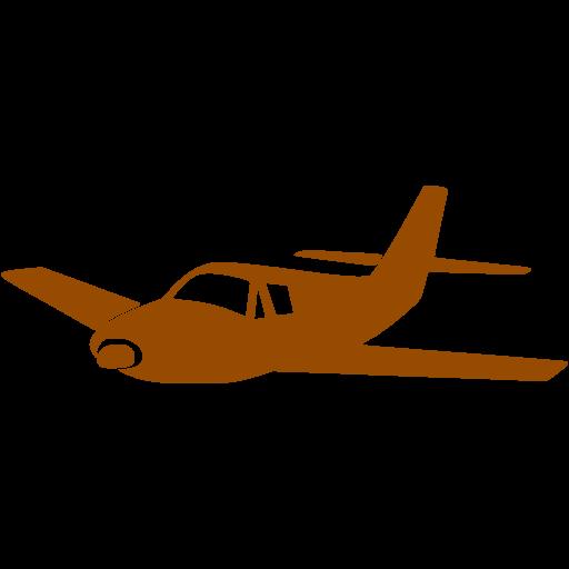 512x512 Airplane Clipart Brown