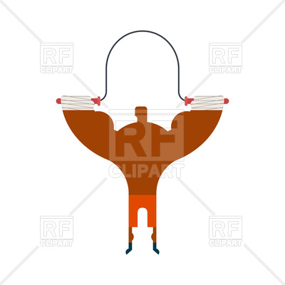 400x400 Boxer On Rope Jump Training. Fitness Exercises. Royalty Free
