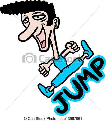 413x470 Creative Design Of Jump Man Clip Art Vector