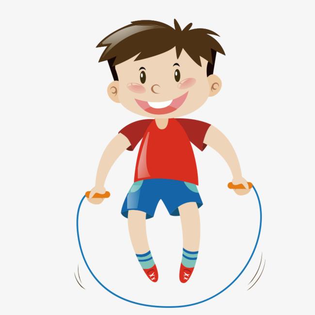 650x651 Cute Cartoon Children Jump Rope, Movement, Rope Skipping, Little