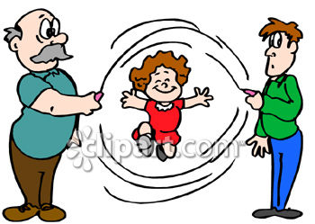 350x249 Girl Jumping Rope With Help Of Father And Grandfather