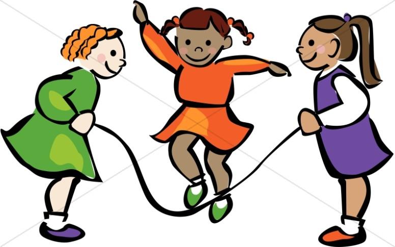 776x485 Girls Playing Jump Rope Childrens Church Clipart