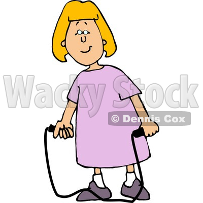 400x400 Happy Girl With A Jump Rope Clipart Djart
