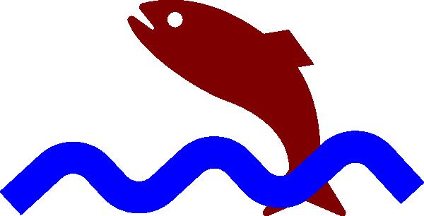 600x306 Jumping Fish Clip Art