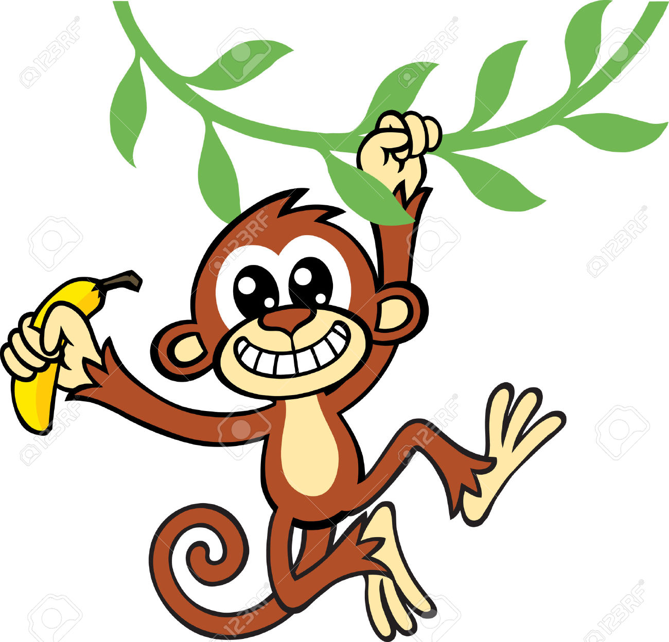 1300x1248 Monkey Jungle Clipart