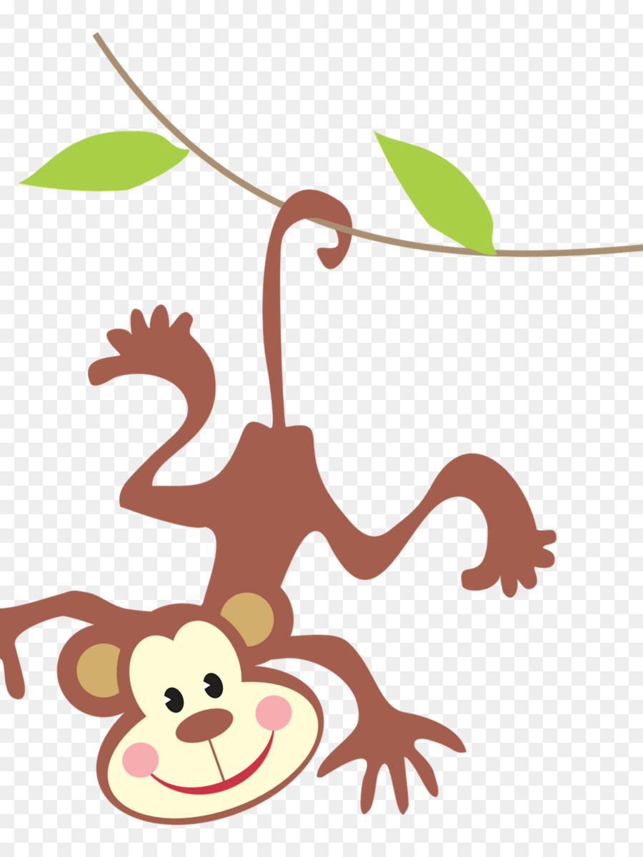 900x1200 Baby Monkeys Clip Art