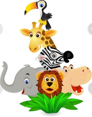 354x450 Jungle Animal Clipart Free Clip Art