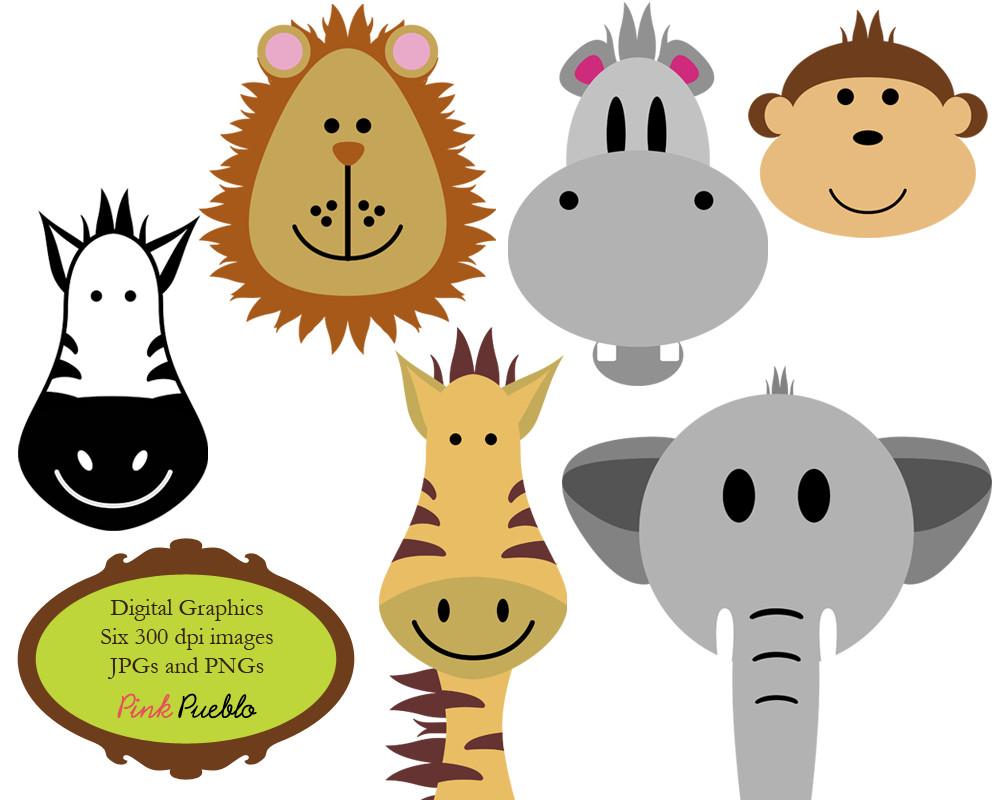 1000x800 Jungle Animals Baby Digital Clipart Safari Clip Art Zoo Beauteous