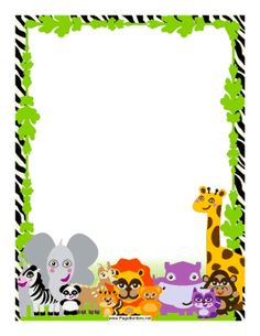 236x305 Jungle Theme Border Clipart