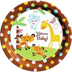 236x236 Baby Shower Jungle Theme Clipart