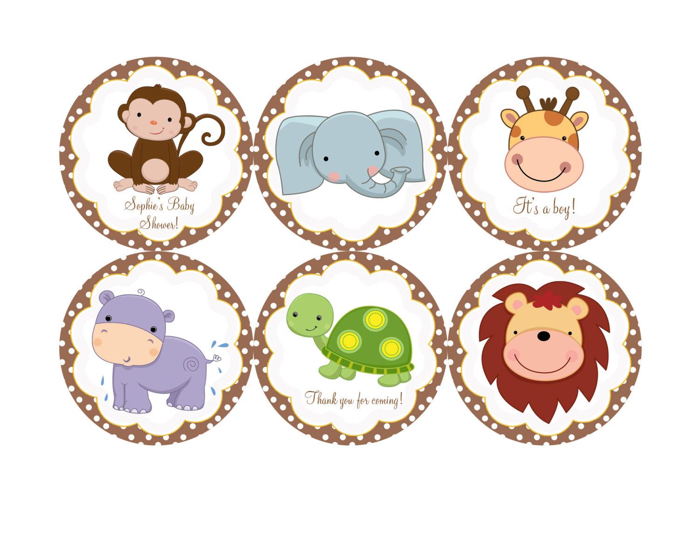 1500x1166 Baby Shower Jungle Animals Clipart