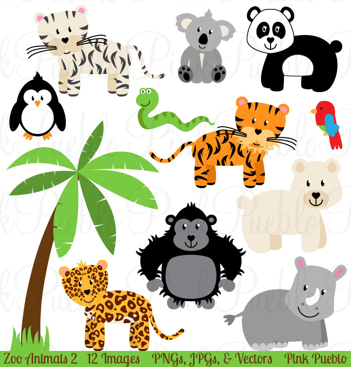 720x753 Jungle Zoo Clipart