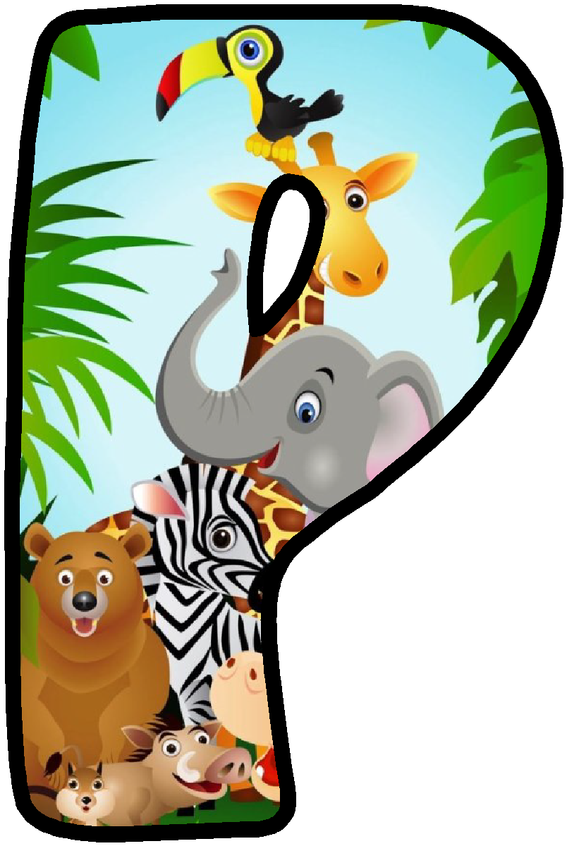 804x1200 Letter P Jungle Party Clip Art, Scrapbook Letters