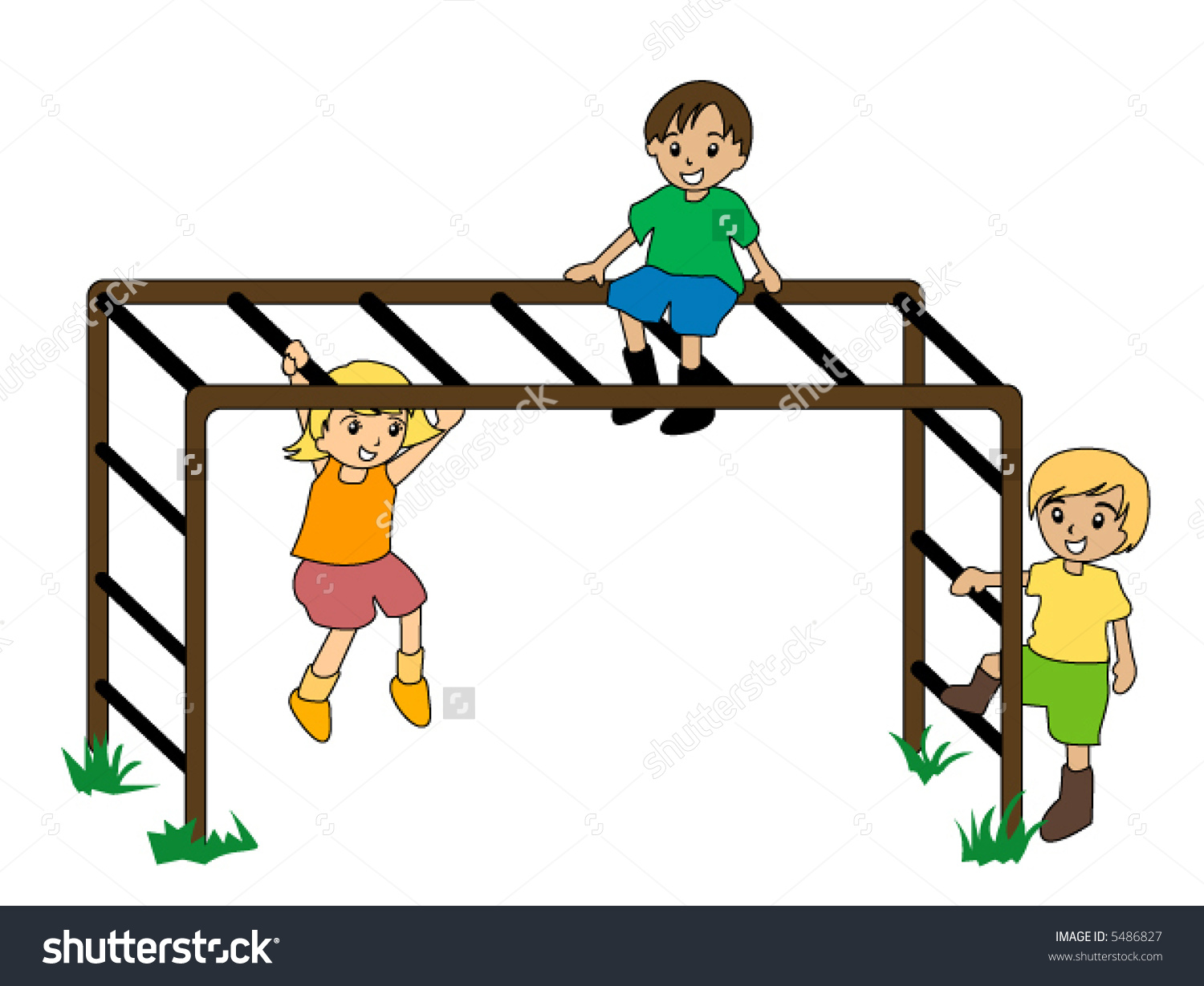 1500x1229 Monkey Bars Clipart