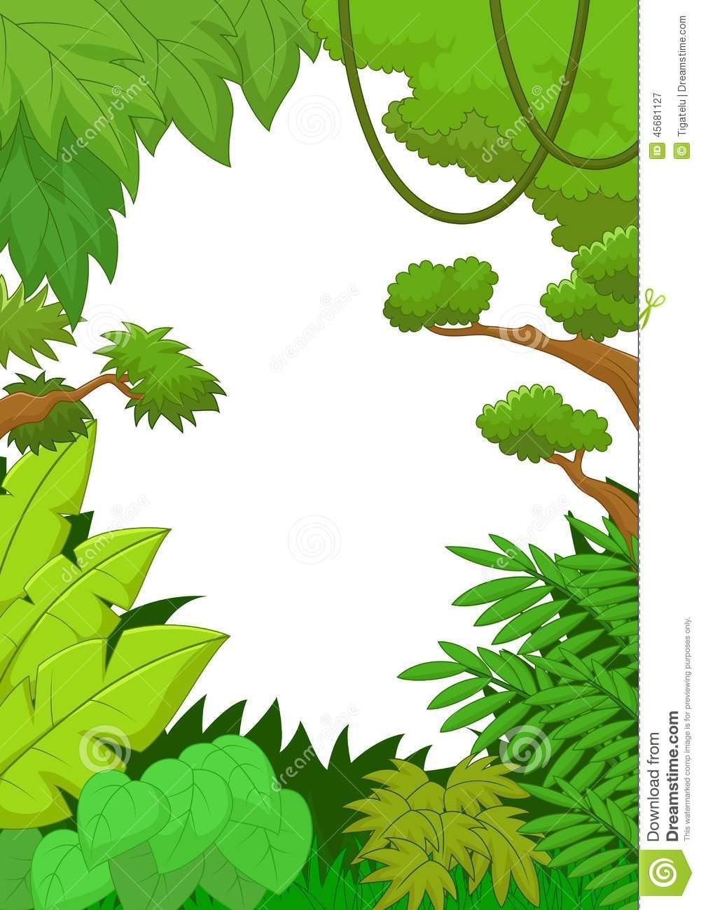 1001x1300 Winsome Design Jungle Leaves Clipart Nice Border Clip Art 35