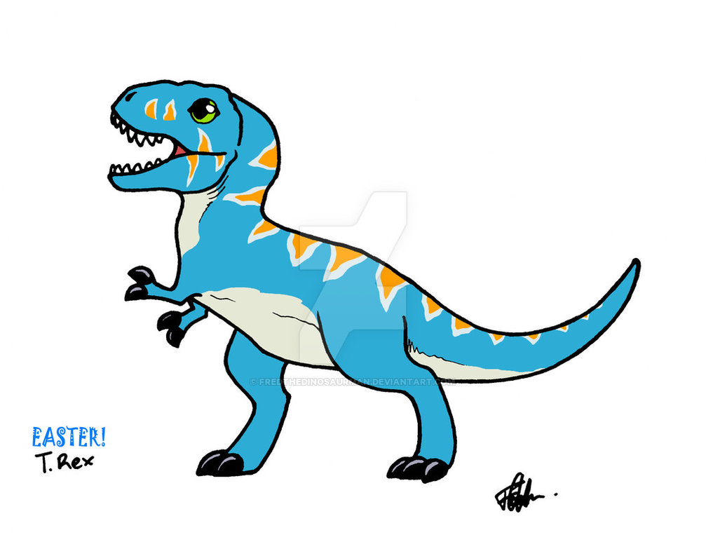 1007x793 Baby Easter T. Rex By Fredthedinosaurman