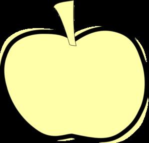 298x285 Golden Apple Clip Art