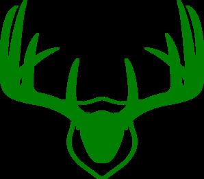 298x261 Green Antlers Clip Art