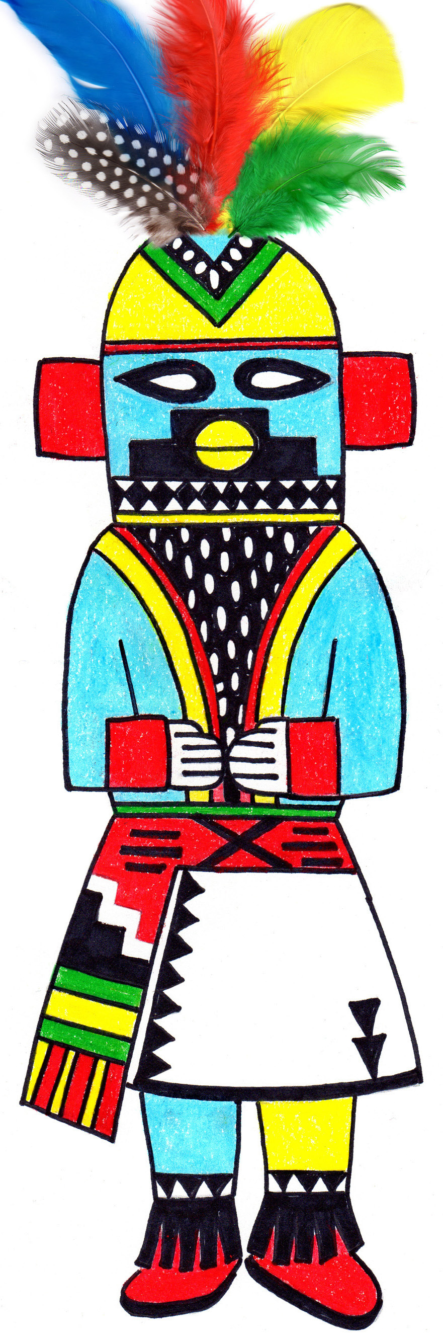 881x2663 Collection Of Kachina Doll Coloring Pages High Quality, Free