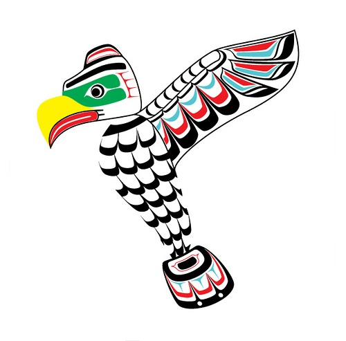 500x493 Thunderbird Totem Pole Vector Clip Art