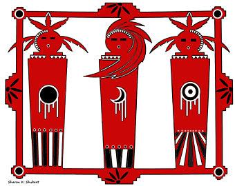 340x270 Black White Red Art Etsy
