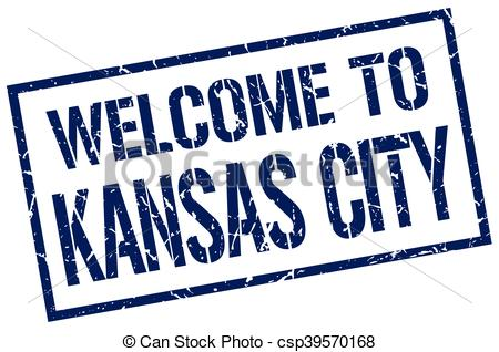 450x318 Welcome To Kansas City Stamp Clip Art Vector