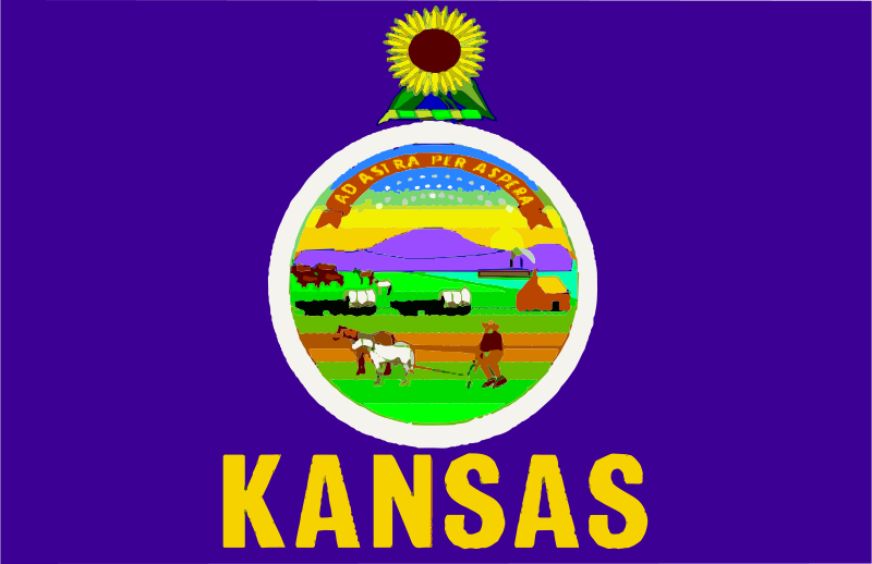 800x518 Free Clipart Flag Of Kansas Anonymous