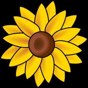 298x297 Sun Flower Clip Art