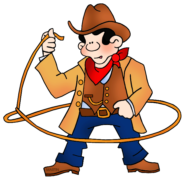 648x623 United States Clip Art By Phillip Martin, Rodeo Cowboy