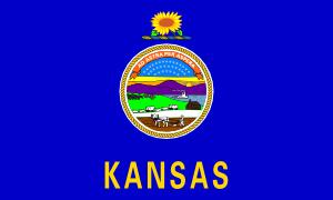 300x180 Us Kansas Flag Clip Art Free Vector 4vector