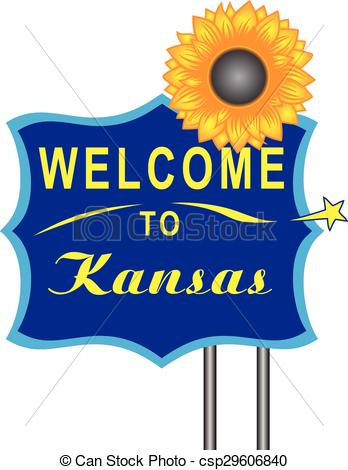 348x470 Welcome To Kansasa Road Stand. Vector Illustration. Eps Vector