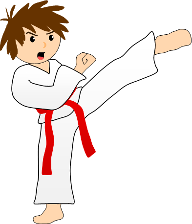 393x458 Karate Kick Clipart Clipart Panda