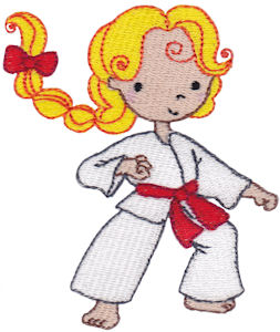 253x300 Karate Kid Embroidery Designs