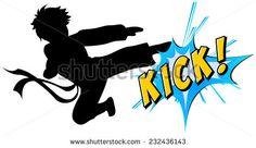 236x136 Karate Kid Baby Karate Player. Cartoon Isolated Character