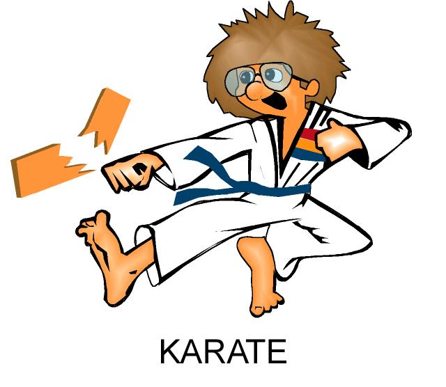 640x556 Karate Man Breaking Boards Clipart