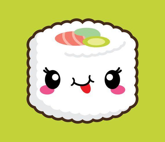 570x492 Kawaii Clip Art, Kawaii Sushi Clip Art, Kawaii Sushi Clipart, Cute