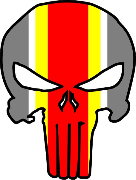 455x600 Kansas City Chiefs Punisher Decal Sticker 41