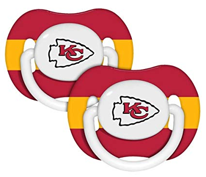 425x364 Nfl Kansas City Chiefs 2 Pack Pacifier (Discontinued