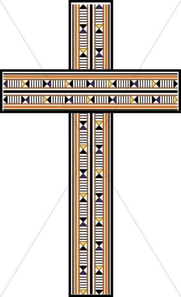 374x612 Contemporary Wood Inlay Cross Cross Clipart