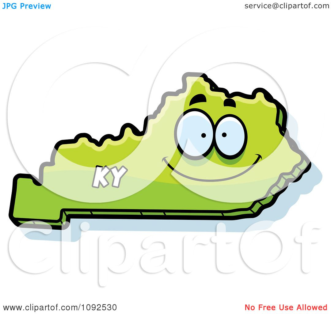 1080x1024 Clipart Happy Green Kentucky State Character