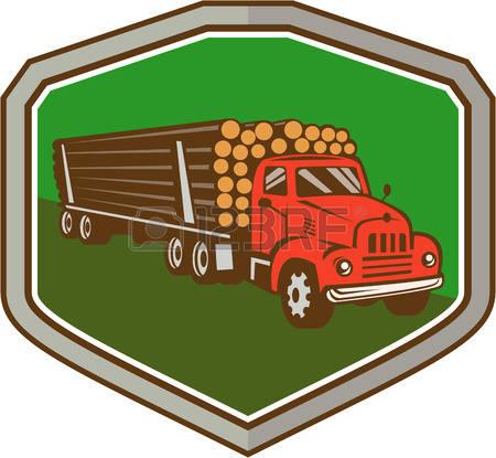 450x415 Clipart Log Truck