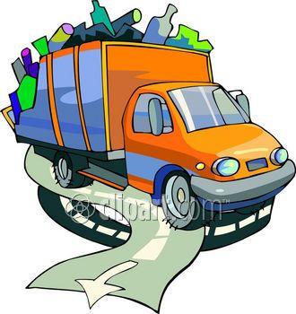 330x350 Simple Garbage Truck Clip Art