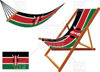 400x289 Kenya Flag Hammock And Deck Chair Set Royalty Free Vector Clip Art